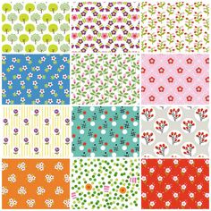 Sweet motif patterns from French stationery designers Fifi Mandirac