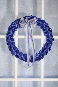 braided ribbon wreath