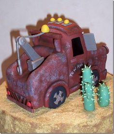 Tow Mater Cake on Pinterest | Mater Cake, Lightning Mcqueen Cake and ...