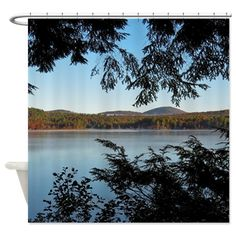 Mountain Scene Shower Curtain Nature Scenery Curtains Art Gifts