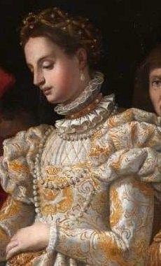 Close up of Catharina de Medici's wedding dress (born in Florence, 13 april 1519 – Blois, 5 january 1589)