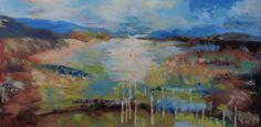 Title: Flooded Landscape. Oil on Canvas. 100cm wide x 50cm drop.
