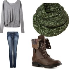 """""""Cozy Fall Outfit"""" by annie-ratcliffe on Polyvore"""