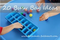 """Full Hands, Full Hearts: Busy Bags - Part I: What is a """"Busy Bag?"""" with TONS of awesome busy bag ideas! Toddler Play, Toddler Learning, Early Learning, Fun Learning, Learning Activities, Toddler Games, Quiet Time Activities, Craft Activities For Kids, Preschool Activities"""