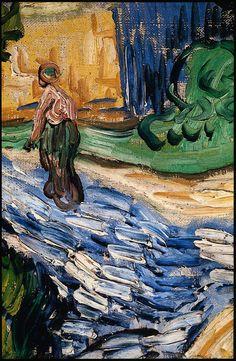 Vincent van Gogh : Houses at Auvers (detail), 1890