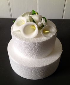 Calla Lily and Lily of the Valley cake topper