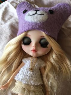 BLYTHE Bear and Fox Animal Hats. Will be working on some new hats for BJD dolls very soon. Fox Animal, Animal Hats, Pet Fox, Blythe Dolls, Doll Clothes, Teddy Bear, Disney Princess, Disney Characters, Flowers