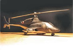 Paper Model - AirWolf Helicopter