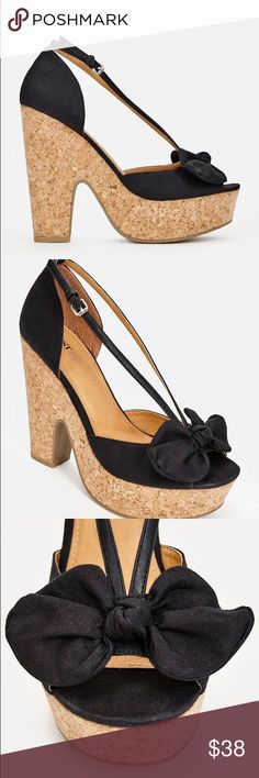 Cork Platform Wedges - Black NWT JustFab Cork Platform Wedges in Black Heel Height - 5 inches Platform Height - 1.5 inches ⚡️Add any item to a bundle to receive a private discount⚡️ JustFab Shoes Wedges