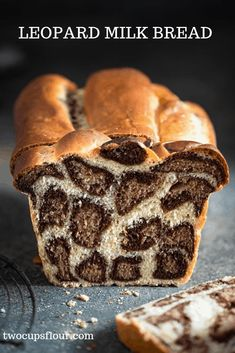 Leopard Milk Bread Recipe made with bread flour, cocoa powder, and orange zest. Soft homemade bread recipe with fun leopard spots! Soft Homemade Bread Recipe, Milk Bread Recipe, Bread Recipes, Baking Recipes, Dessert Recipes, Art Du Pain, Cheesecake Cupcakes, Le Diner, Comfort Food