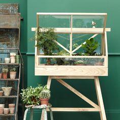 """Natürlich kann man im """"Greenhouse"""" aus lackierter Esche und Sicherheitsglas auch Salat ziehen, Es bietet aber ebenso Platz für viele kleine Töpfchen voller feiner Sukkulenten."""