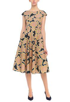 Платье с цветочным принтом Weekend Max Mara Presents, Dresses For Work, Plates, Fashion, Licence Plates, Moda, Gifts, Dishes, Plate