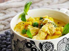 Bon Appetit, Food Inspiration, Cantaloupe, Soup Recipes, Risotto, Potato Salad, Nom Nom, Curry, Food And Drink