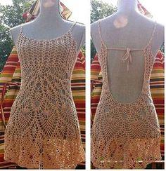 Bom dia, já esta dando para se preparar para o verão, que promete.... inspiração para começar a crochetar estes maravilhosos vestidos.     ...