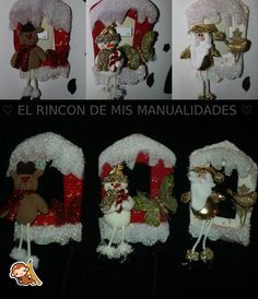 SUICHEROS NAVIDEÑOS Christmas Cross, Christmas 2017, Little Christmas, Christmas Diy, Christmas Wreaths, Xmas, Christmas Ornaments, Felt Christmas Decorations, Christmas Stockings
