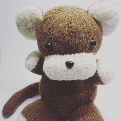 Cheeky monkey  #monkey #knit #hearnoevilseenoevilspeaknoevil #wool #knitting #knittedtoys #cute #toys