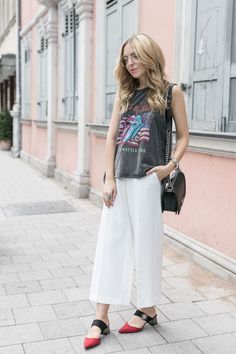 Band Shirt Outfit, Spring Trend 2017, Blogger Style,Spring Outfit Casual, Street Style