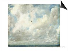 Cloud Study, 1821 (Oil on Paper Laid Down on Board) Prints by John Constable - AllPosters.co.uk