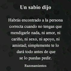Amor Quotes, Wisdom Quotes, Quotes To Live By, Qoutes, Spanish Inspirational Quotes, Spanish Quotes, Love Phrases, Love Words, Best Quotes