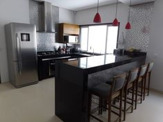Small Kitchen Set, Kitchen Sets, Kitchen Layout, Coffee Bar Home, Cafe Design, House Design, Modern Kitchen Design, House Rooms, Sweet Home