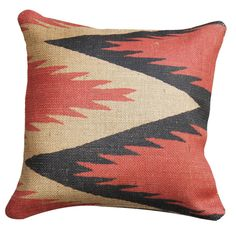 cool print and colors on this pillow
