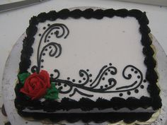 A little more henna.... and some roses for color. 1/4 sheet cake.