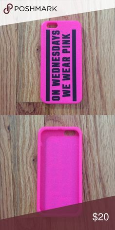 """VS PINK Mean Girls IPhone 6 Case VS PINK iPhone 6/6s case. Mean Girls """"On Wednesday's We Wear Pink"""". Like new condition. PINK Victoria's Secret Accessories Phone Cases"""