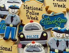 ♥ A cookie donation for a local police barracks for National Police Week