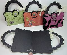 Top note paper purses (could be a card inside, etc.)
