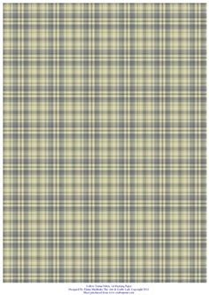 Yellow Tartan A4 Backing Paper for Card making and Scrapbook on Craftsuprint designed by Elaine Sheldrake - Perfect backing paper for matting cards and scrapbooking. - Now available for download!