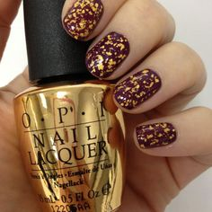 OPI 18-karat gold flake topcoat