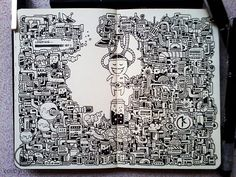 The beautiful moleskine doodles by Kerby Rosanes