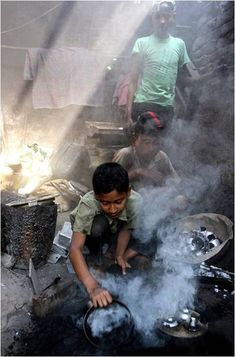 Do you still complain about the childhood you have been through, then look at them. Will the world stop fighting and look at the other side please….Child Labor.