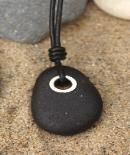 Cape Cod beach stone jewelry by KEM DESIGNS  I have a little drill....
