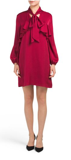 Ruffled dress - Christmas red - holiday party perfection #christmas #xmas #ootn