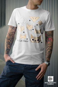 T-shirt origami, Cat! Per info: mbe644@mbe.it 0141 822675
