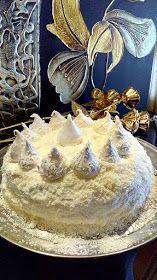 ΜΑΓΕΙΡΙΚΗ ΚΑΙ ΣΥΝΤΑΓΕΣ 2: Σπέσιαλ τούρτα Χιονάτη !!!! Greek Desserts, No Cook Desserts, Greek Recipes, Dessert Recipes, Greek Cooking, I Want To Eat, Cream Cake, Bakery, Deserts