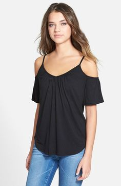 Free shipping and returns on Ella Moss 'Bella' Cold Shoulder Top at…