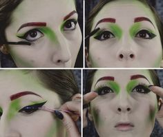 Of all the villains to plague Gotham, Poison Ivy might be the worst. Transform into this adversary of Batman with the help of our makeup tutorial. Poison Ivy Makeup, Batman Costumes, The Help, Halloween Face Makeup