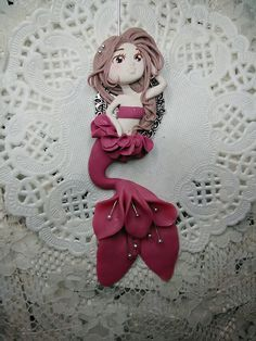 #fimo #handmade #flower #marmeid #red
