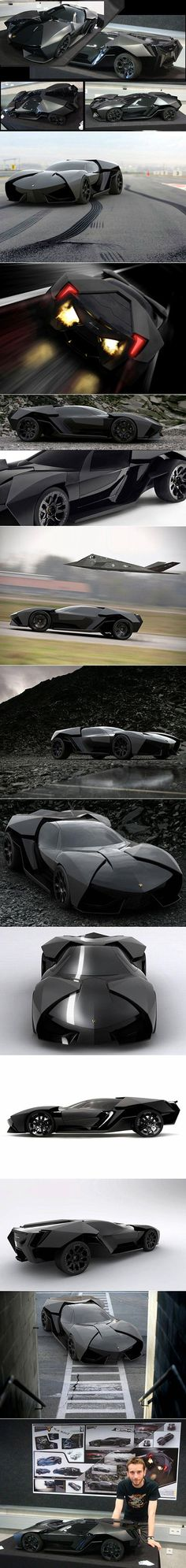 Sure, you could just pick up a matte black Lamborghini Aventador to get the Batmobile look, but what if the company actually released a model inspired by the actual movie vehicle? It would probably look something like the Lamborghini Ankonian, which was designed by Munich University student Slavche Tanevsky.