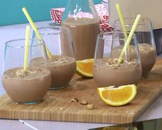 Smoothie πραλίνα με μπισκότο Diabetic Friendly, Healthy Smoothies, Sugar Free, Food And Drink, Low Carb, Gluten Free, Pudding, Sweets, Diet