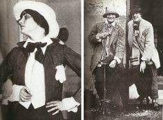 Coco Chanel: Left, 1912, dressed in a page boy costume for a wedding. Coco Chanel in drag...I love it! Altering mens fashion and taking control of style!