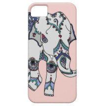 Rose Gold Embellished Elephant iPhone 5 Cases