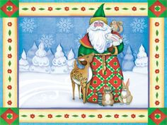 Free Christmas Backgrounds by artist Jim Shore ~ Can be either printed or used as as a desktop background