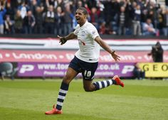 Jermaine Beckford plays for Preston North End Preston North End, Plays, Soccer, In This Moment, Running, Sports, People, Games, Hs Sports