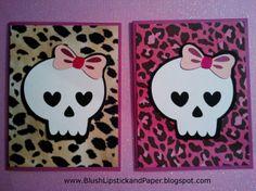 Rock Princess cards #Cricut #RockPrincess  #SkullCards