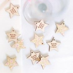 Papered Wedding Favour Stars