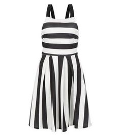 New Look Black Wide Stripe Prom Dress New Look Dresses, Going Out Dresses, Day Dresses, New Dress, Striped Dress, Holiday Party Dresses, Prom Party Dresses, Dress Party