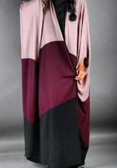 Berry Colorblock Abaya by Ghizlan